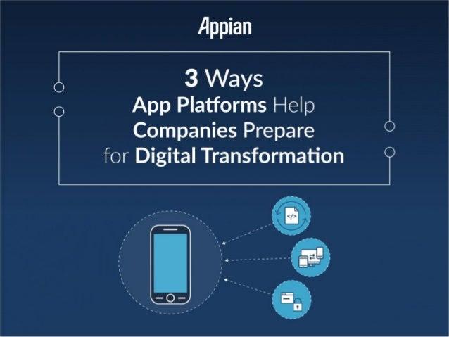 Three Ways App Platforms Help Companies Prepare for Digital Transformation