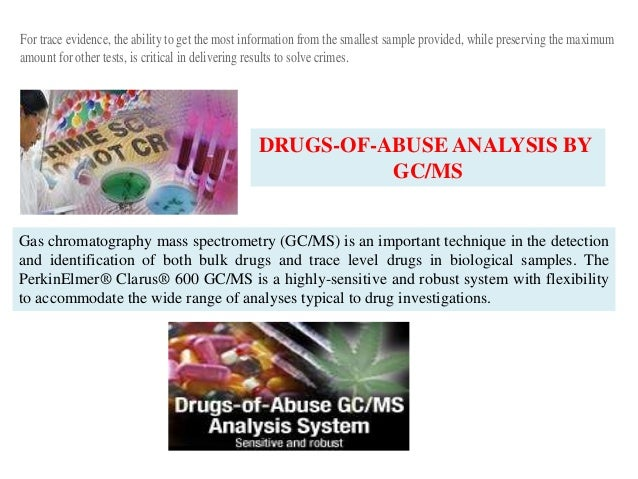 A discussion of drug identification with gas chromatography mass spectometry