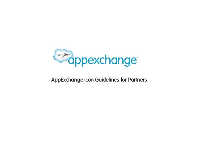 AppExchange Icon Guidelines for Partners