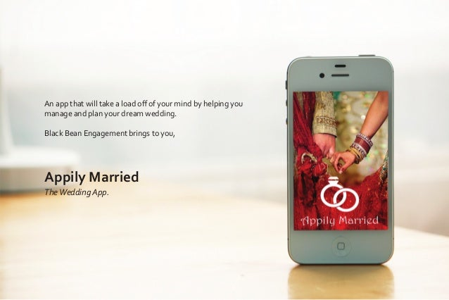 An app that will take a load off of your mind by helping you manage and plan your dream wedding. Black Bean Engagement brin...