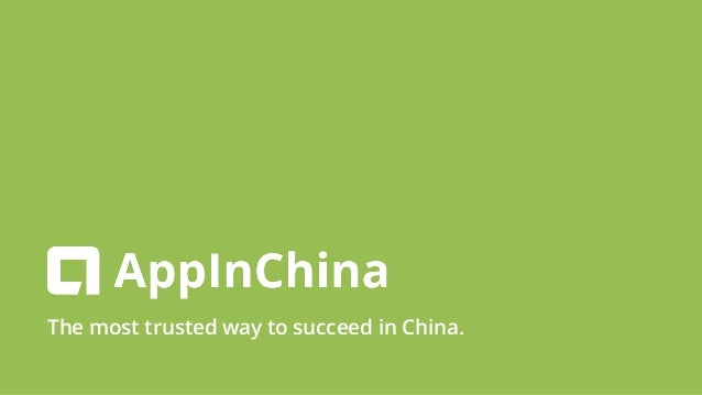 The most trusted way to succeed in China.