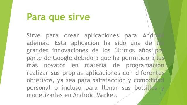 App inventor for Para que se utiliza el marmol