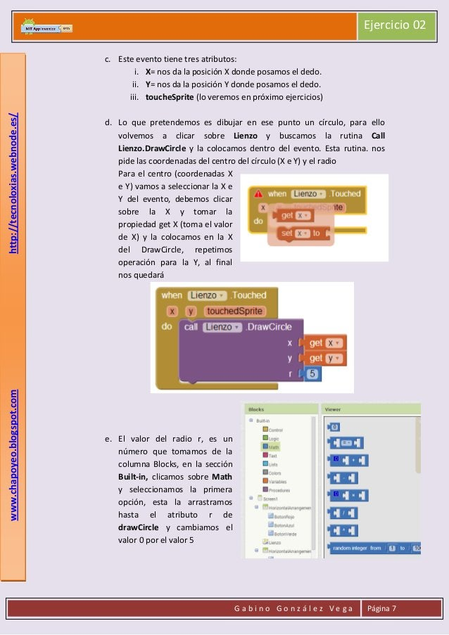 Ejercicio 02  www.chapoyeo.blogspot.com  http://tecnoloxias.webnode.es/  c. Este evento tiene tres atributos: i. X= nos da...