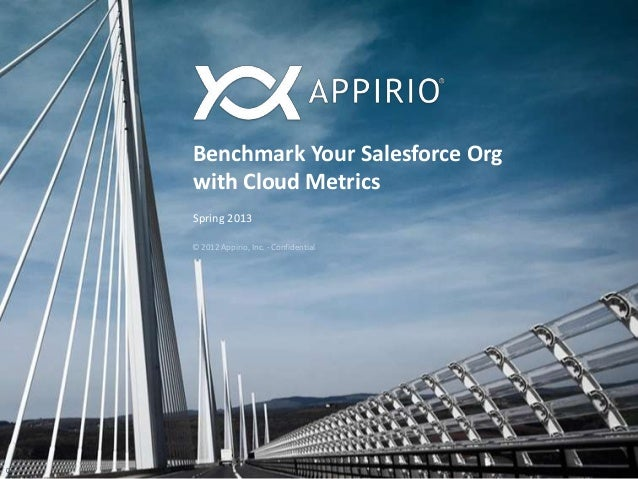 Benchmark Your Salesforce Orgwith Cloud MetricsSpring 20130© 2012 Appirio, Inc. - Confidential