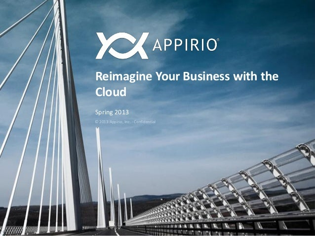 Reimagine Your Business with theCloudSpring 20130© 2013 Appirio, Inc. - Confidential