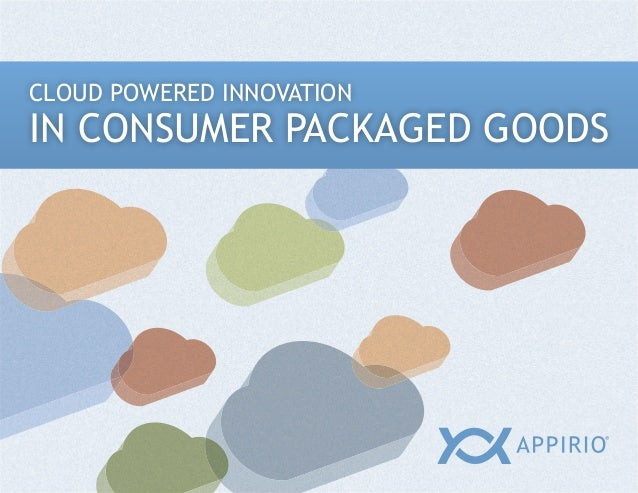 CLOUD POWERED INNOVATIONIN CONSUMER PACKAGED GOODS