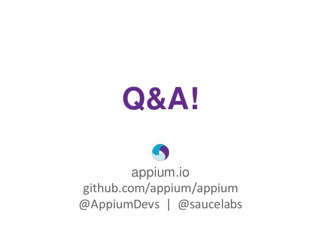 Live Panel: Appium Core Committers Answer Your Questions