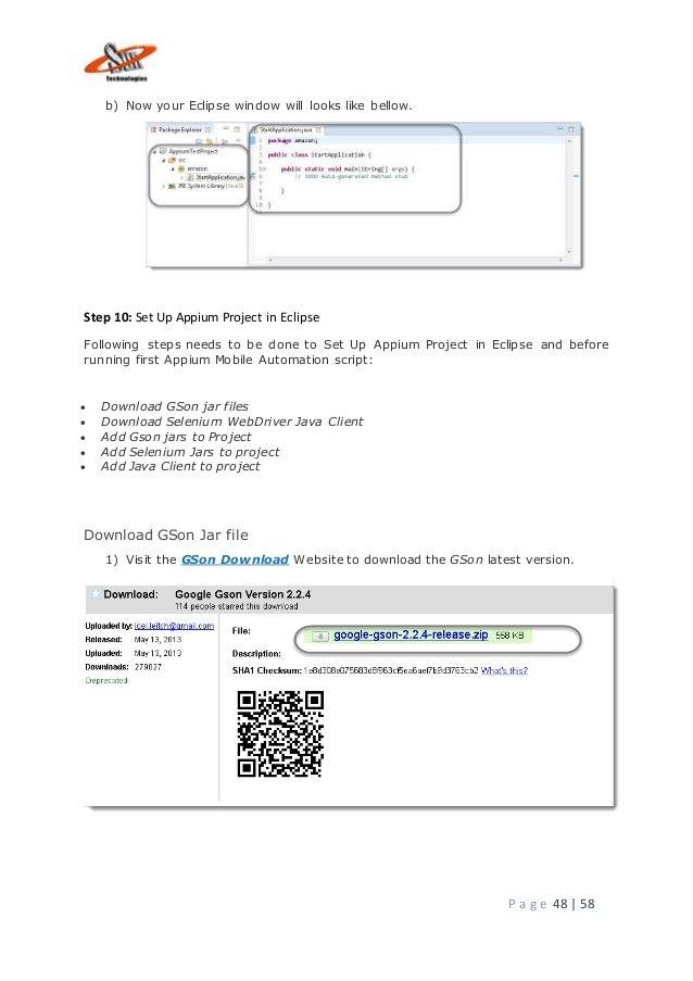 Appium installation document