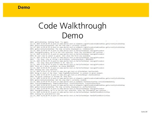 Seite 28 Demo Code Walkthrough Demo