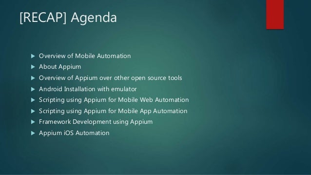 Appium overview session final