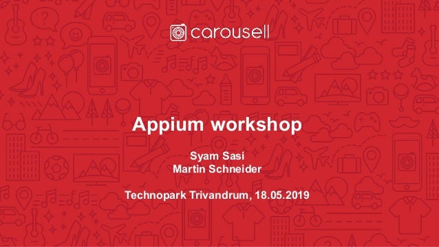 Appium workshop technopark trivandrum