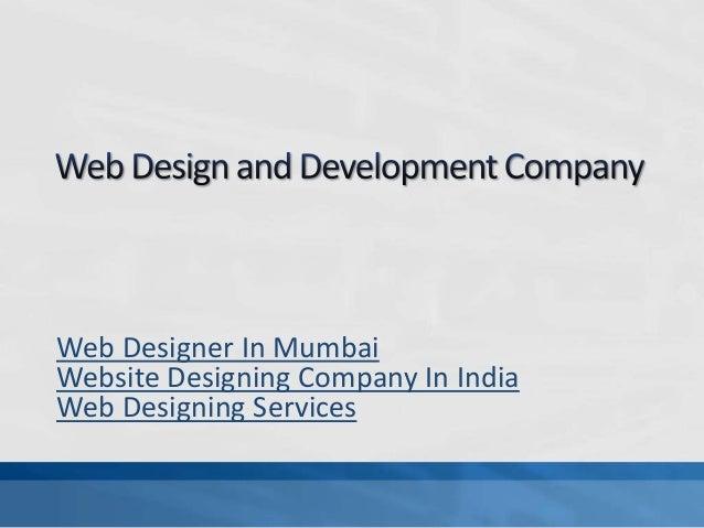 Web Designer In Mumbai Website Designing Company In India Web Designing Services