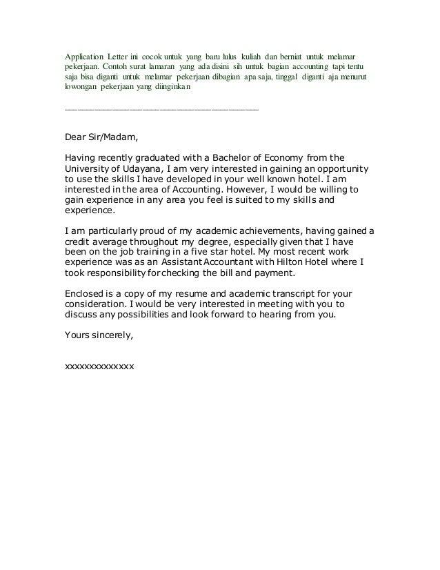 Applcation Letter