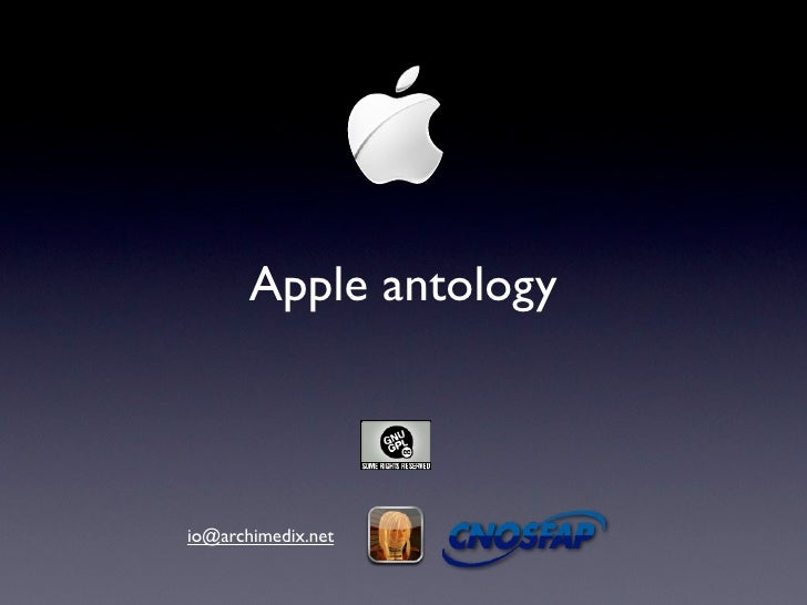 Apple antology    io@archimedix.net