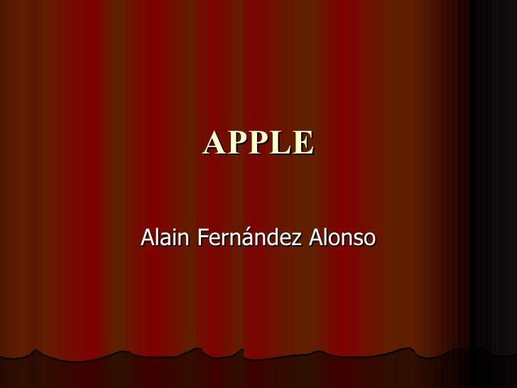 APPLE Alain Fernández Alonso