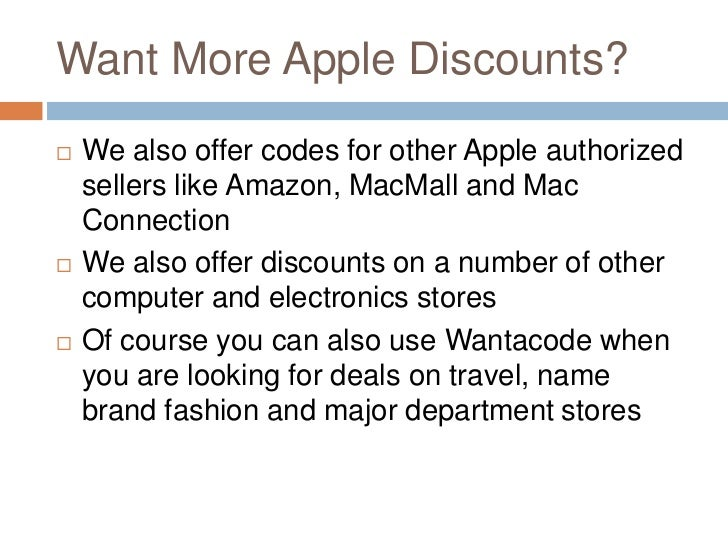 Apple store coupon code