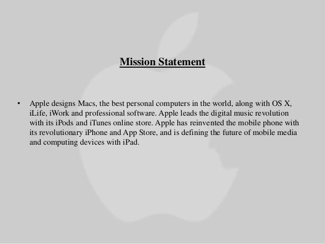 Mission statement for apple / publiconsulting.ga