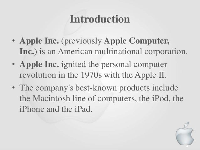 Company history of apple