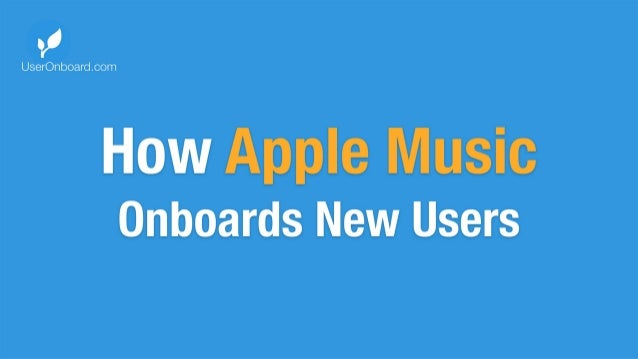 How Apple Music Onboards New Users