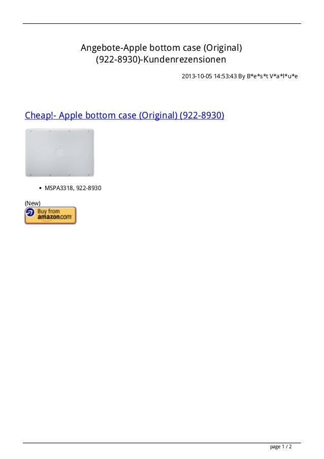 Angebote-Apple bottom case (Original) (922-8930)-Kundenrezensionen 2013-10-05 14:53:43 By B*e*s*t V*a*l*u*e Cheap!- Apple ...