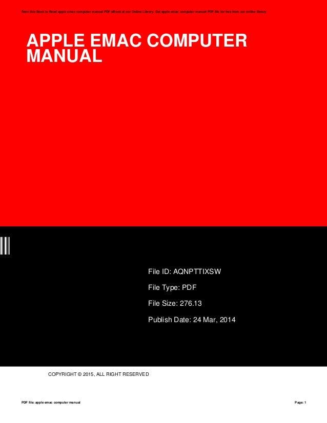 apple emac computer manual rh slideshare net apple mac manual apple emac a1002 owner manual