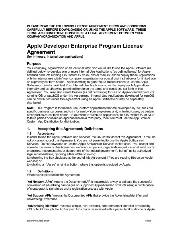 Enterprise Agreement Page 1 	 PLEASE READ THE FOLLOWING LICENSE AGREEMENT TERMS AND CONDITIONS CAREFULLY BEFORE DOWNLOADIN...