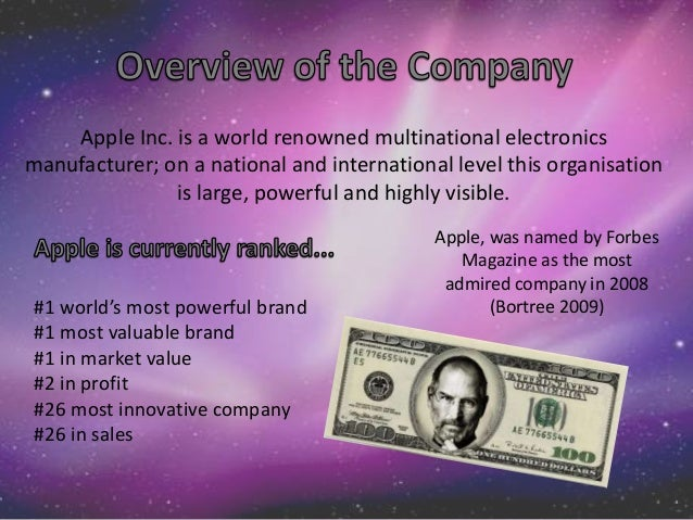 Evaluation and control of apple company
