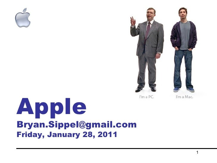 Apple [email_address] Friday, January 28, 2011