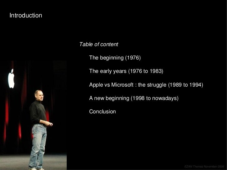 Apple Story (from 1976 to nowadays) Slide 2