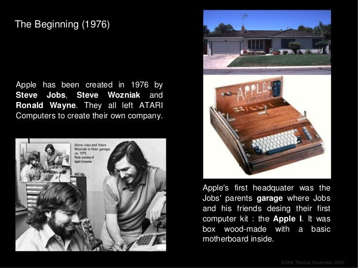 Apple Story (from 1976 to nowadays) Slide 3