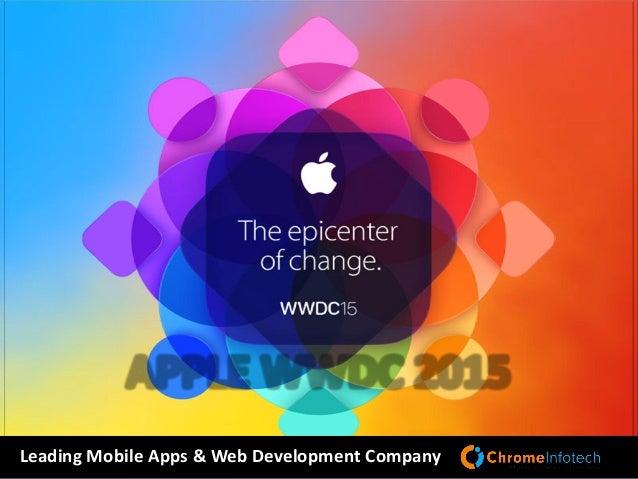 APPLE WWDC 2015 Leading Mobile Apps & Web Development Company
