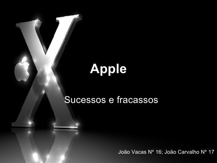 Apple Sucessos e fracassos João Vacas Nº 16; João Carvalho Nº 17