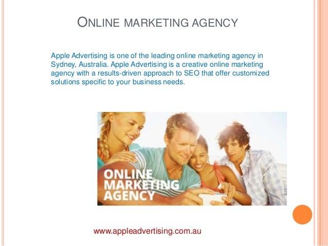ONLINE MARKETING AGENCY  Apple Advertising is one of the leading online marketing agency in  Sydney, Australia. Apple Adve...