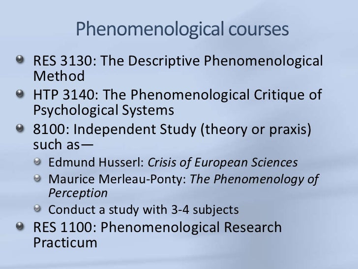 Phenomenology and Natural Science