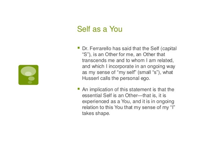 Embodied Self and Other--A Phenomenological Perspective Slide 3
