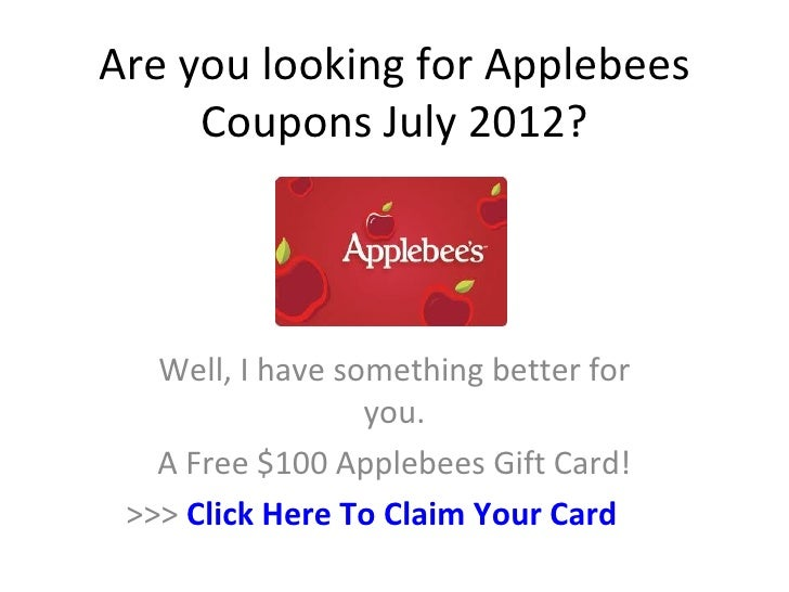 Applebees coupons printable 2019