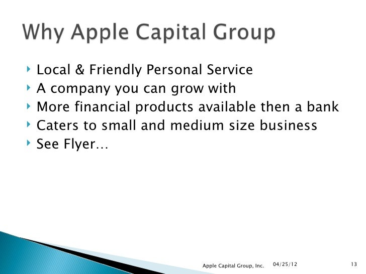 Apple capital group training1 for Mitchell s fish market jacksonville fl