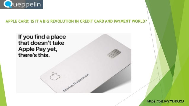 APPLE CARD: IS IT A BIG REVOLUTION IN CREDIT CARD AND PAYMENT WORLD? https://bit.ly/2YDDG2J