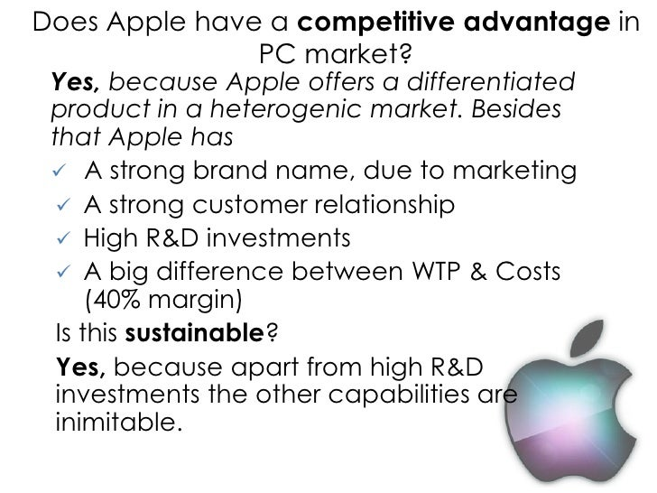 apple case competitive advantage The commission's investigation concluded that ireland granted illegal tax benefits to apple,  the undue competitive advantage enjoyed by apple  case if they .