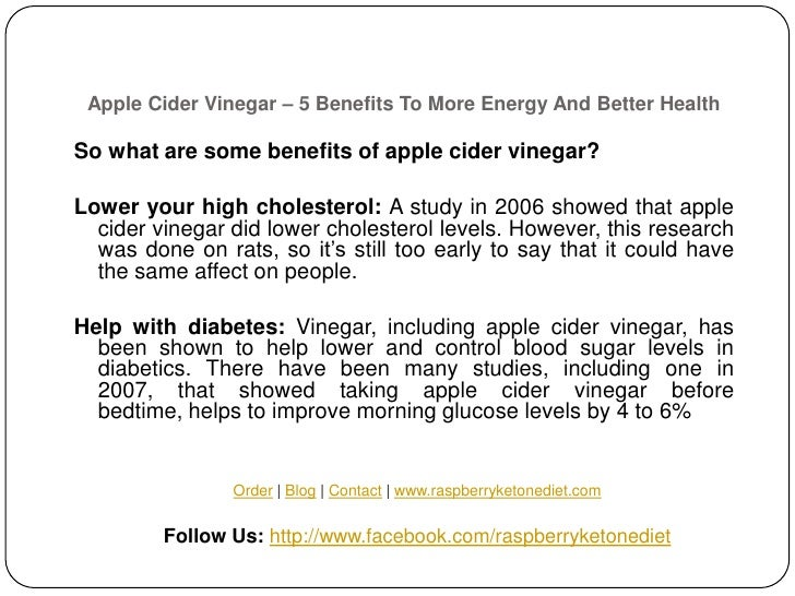 Apple cider vinegar 5 benefits to more energy and better