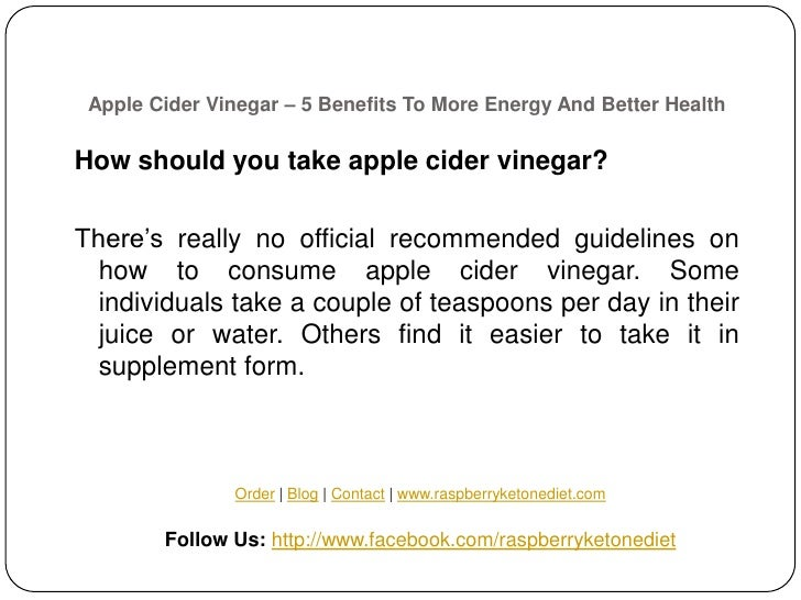 Apple Cider Vinegar – 5 Benefits To More Energy And Better
