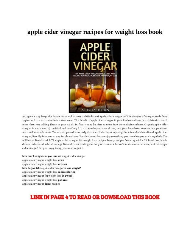 Apple Cider Vinegar Weight Loss Recipe Apple Cider Vin...