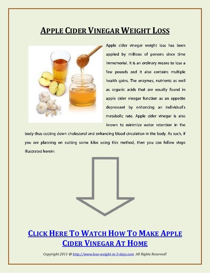 Apple Cider Vinegar Weight Loss Recipe Apple Cider Vinegar Weight