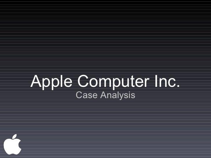 Apple Computer Inc. Case Analysis