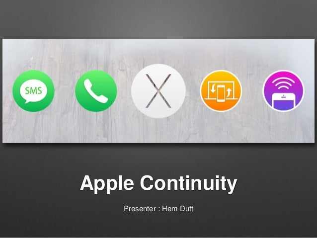 Apple continuity