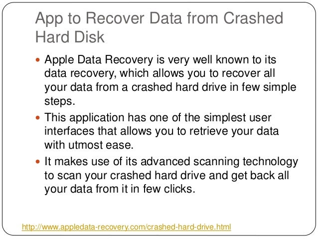 crashed hard drive recovery software free