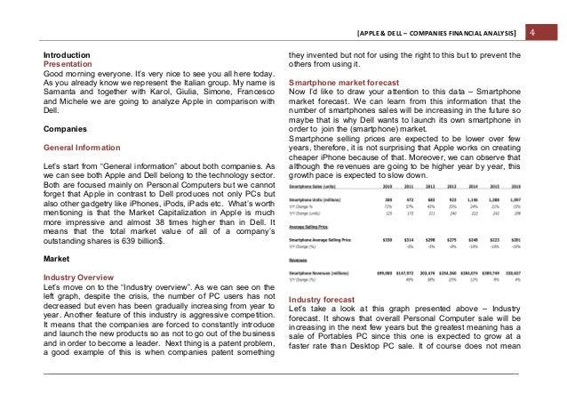 apple vs dell financial analysis