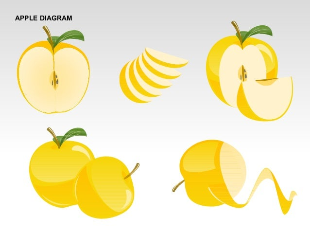 Apple Diagrams Collection For Powerpoint
