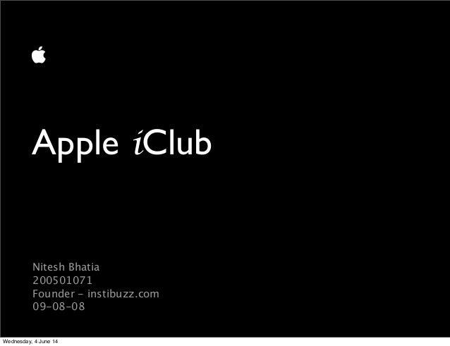 Apple iClub at DA-IICT Opening PPT