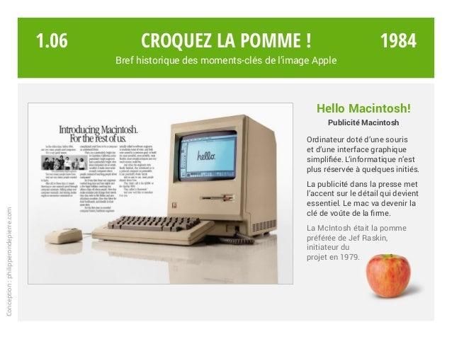 Hello Macintosh! Publicité Macintosh Ordinateur doté d'une souris et d'une interface graphique simplifiée. L'informatique ...